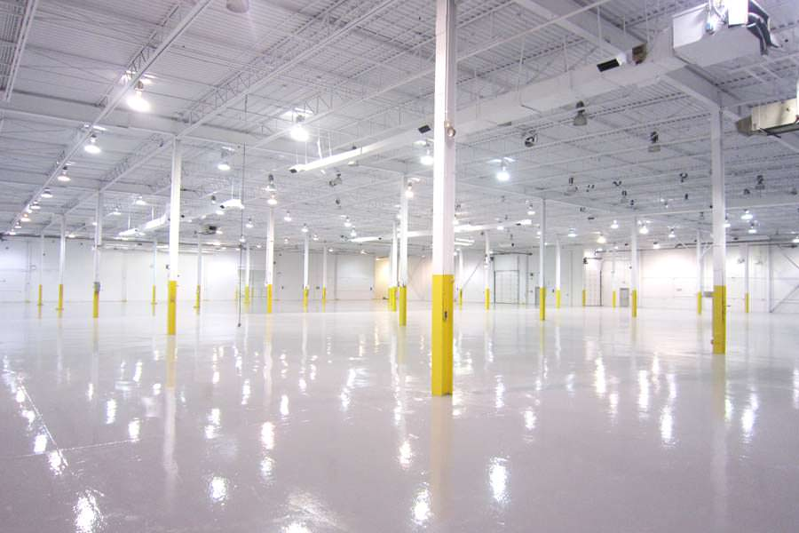 Epoxy floor painting epoxy floor coating l painters of for Industrial concrete floor cleaning services
