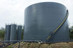 painted bulk liquid storage tanks in Columbus, Ohio