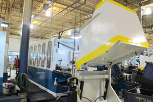 painted equipment in a Farmington Hills factory
