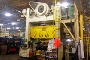 repainted manufacturing equipment in a Grand Rapids plant