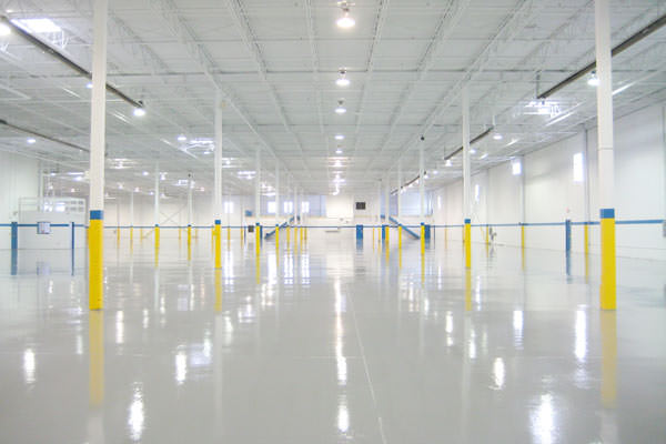 industrial painting of ceilings, walls and epoxy floors