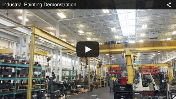 Farmington Hills, Michigan industrial painting demonstration video