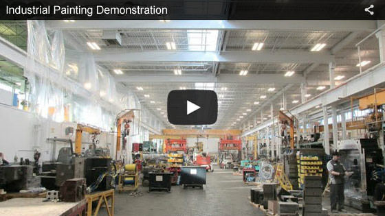 Erie, Pennsylvania, industrial painting demonstration video