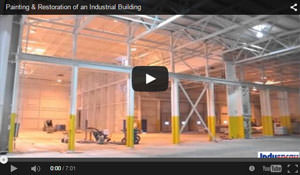 video showing industrial painting