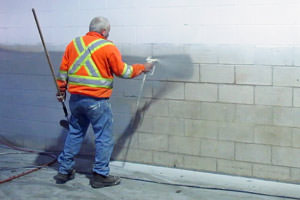cinder block wall painting by a Livonia industrial painter