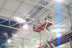 Indianapolis, IN industrial ceiling spray painting by professional painters